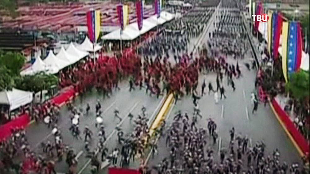 Момент покушения на Николаса Мадуро