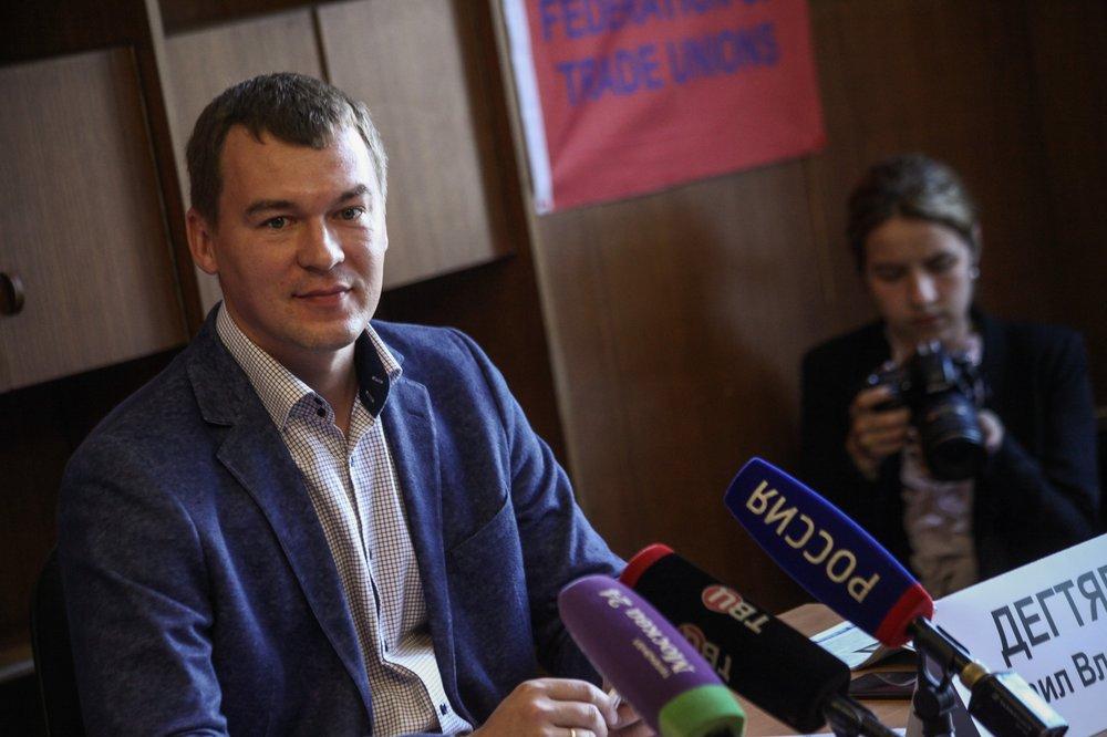 Встреча кандидата на должность мэра Москвы от ЛДПР Михаила Дегтярева