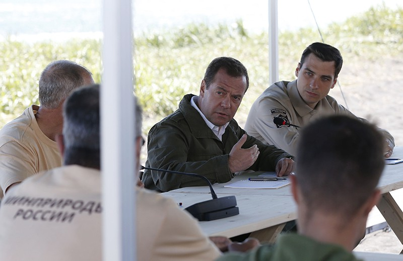 Рабочая поездка премьер-министра России Дмитрия Медведева на Камчатку