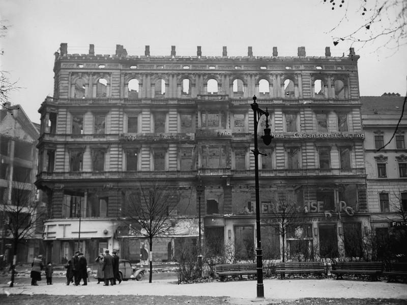 Последствия бомбардировки Берлина в 1941 году