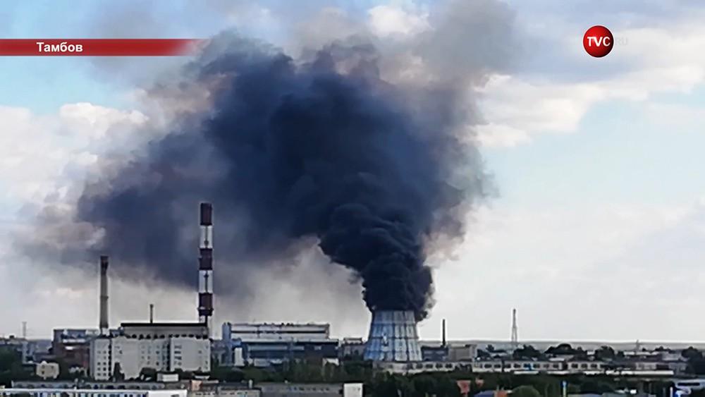 Пожар на ТЭЦ в Тамбове