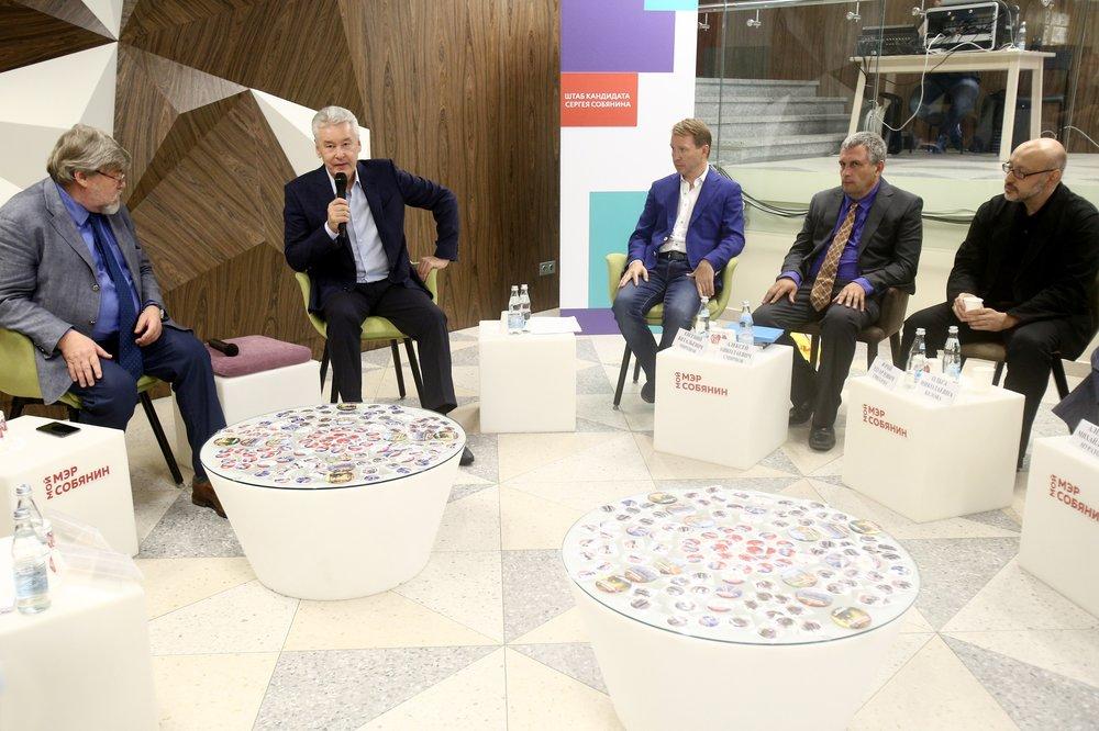 Встреча с экспертами по вопросам благоустройства в избирательном штабе кандидата в мэры Москвы Сергея Собянина