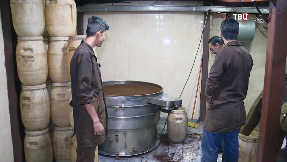 Фабрика по производству кофе в Сирии
