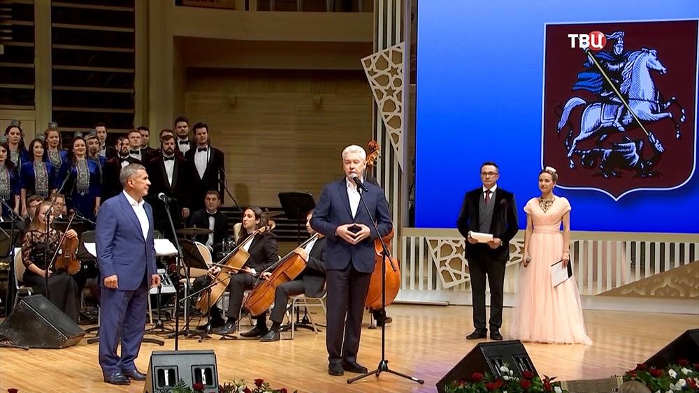 Сергей Собянин во время посещения гала-концерта