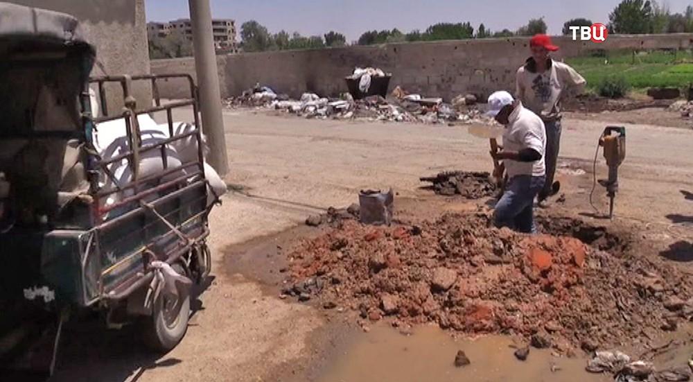 Восстановление системы водоснабжения в Сирии
