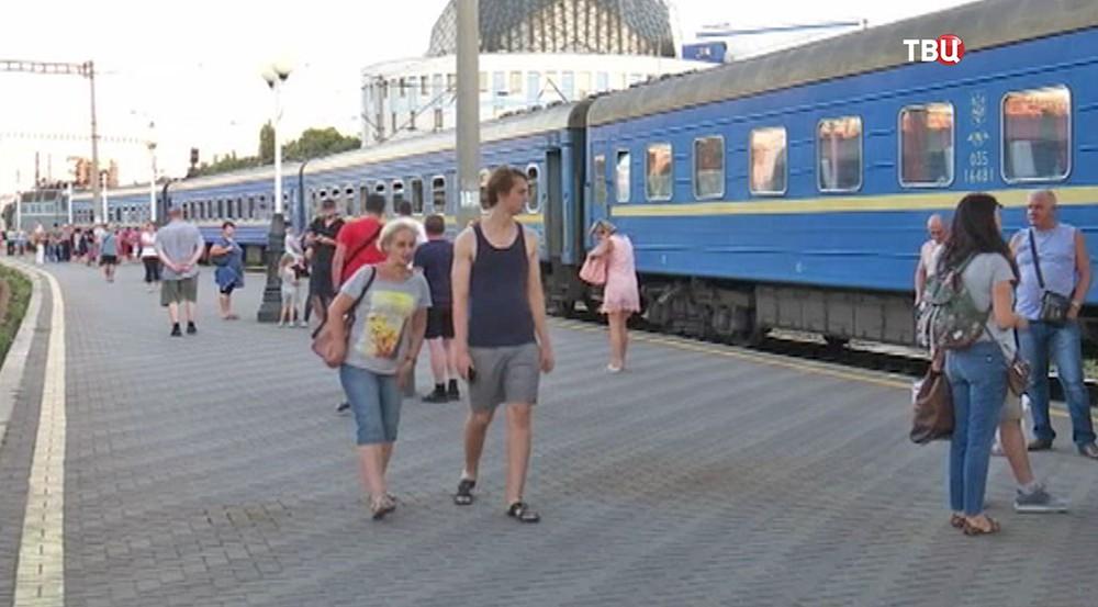 Железнодорожный вокзал на Украине