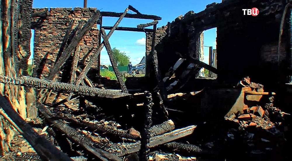Последствия пожара в Омске