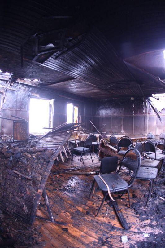 Сгоревший психоневрологический интернат в Воронежской области