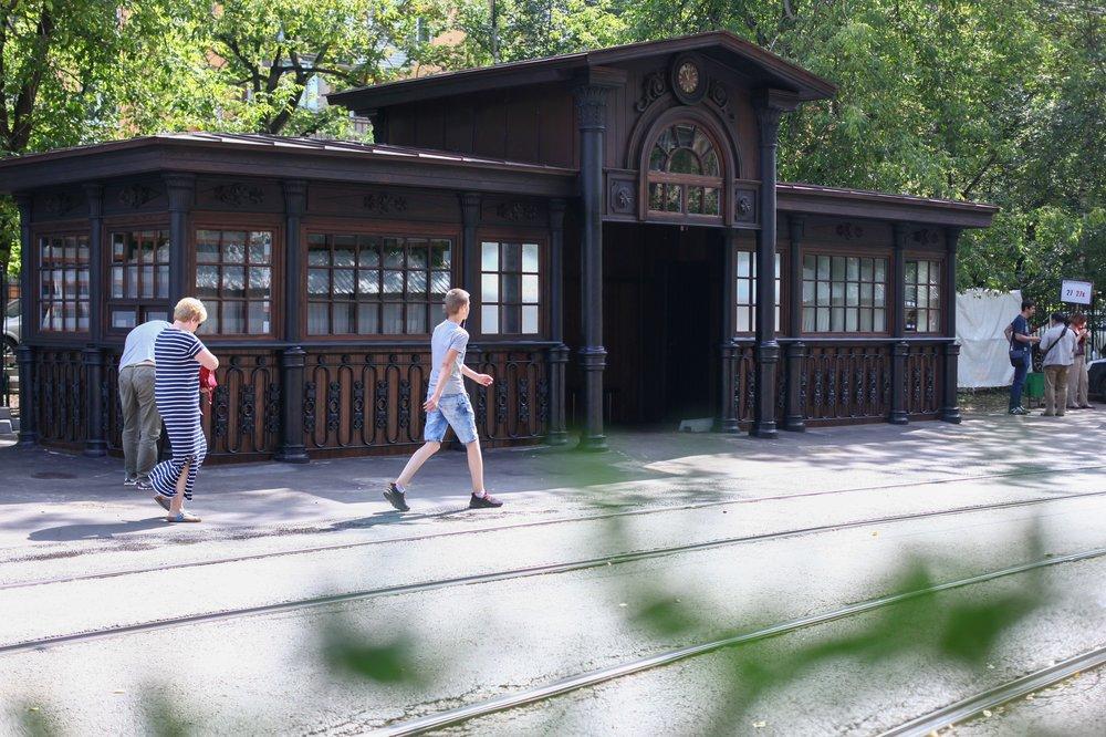 Старейшая трамвайная остановка