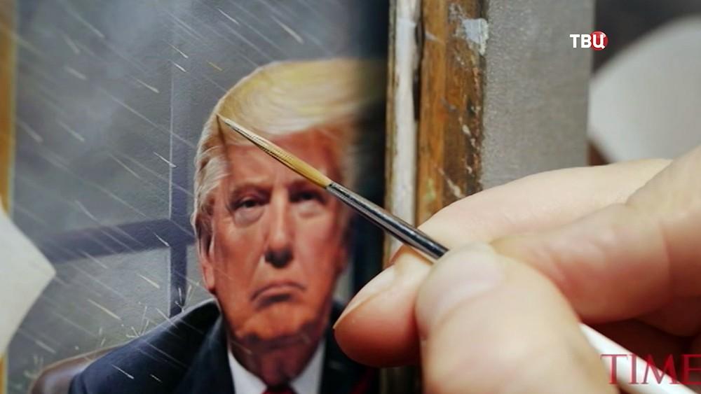 Создание обложки журнала Time с Дональдом Трампом