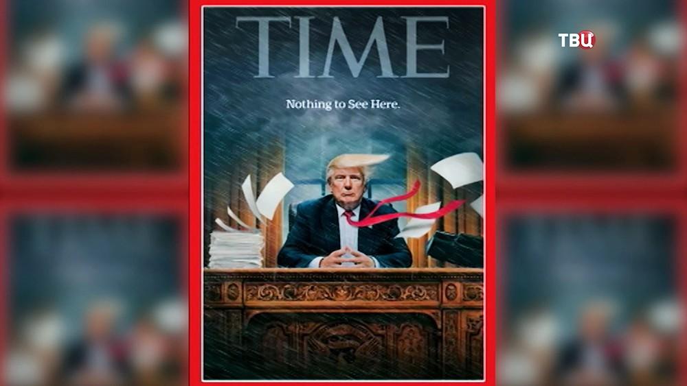 Обложка журнала Time с Дональдом Трампом