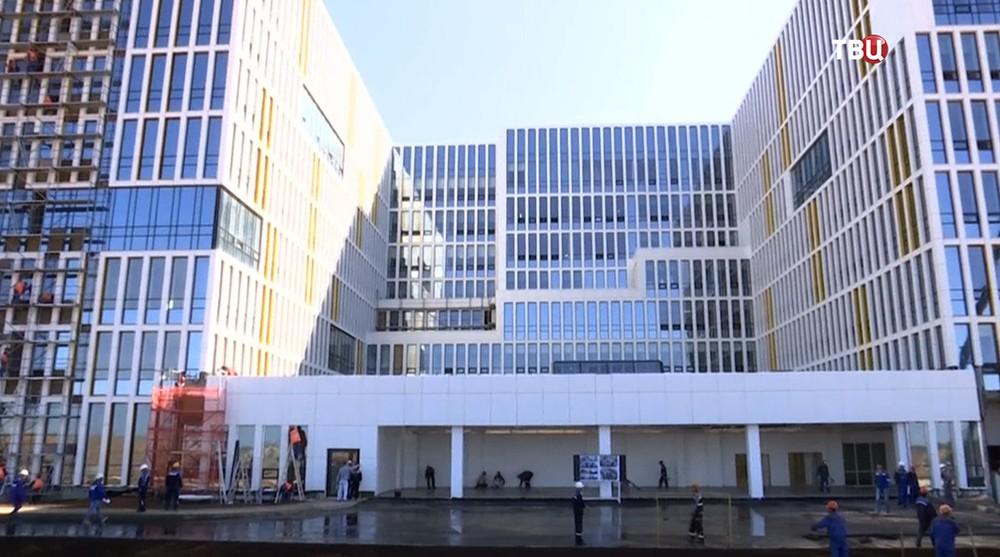 Cтроительство лечебно-диагностического центра в Коммунарке