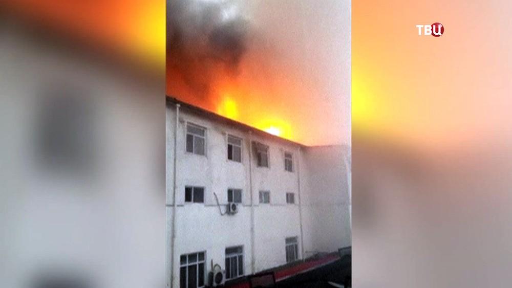 Пожар в отеле в Китае