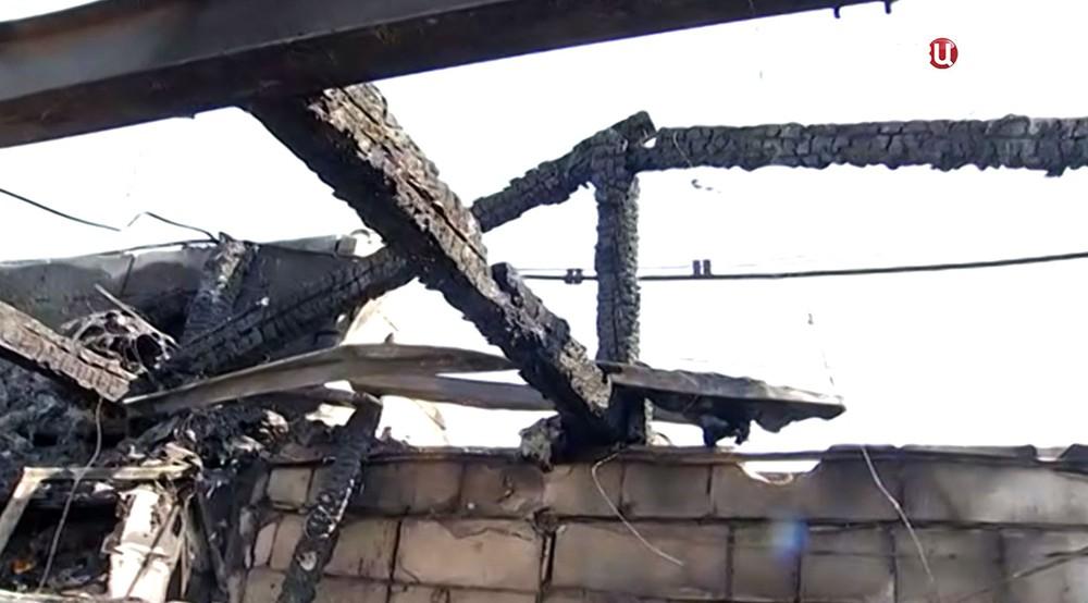 Последствия пожара в жилом доме в Королеве
