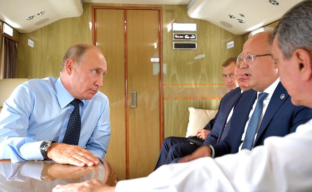 Рабочая поездка Владимира Путина в Кемеровскую область