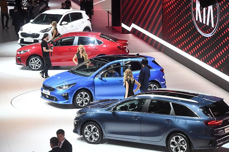 Стенд компании KIA на Московском международном автомобильном салоне 2018