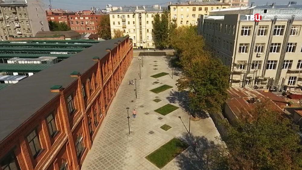Благоустройство улицы Лесная в Москве