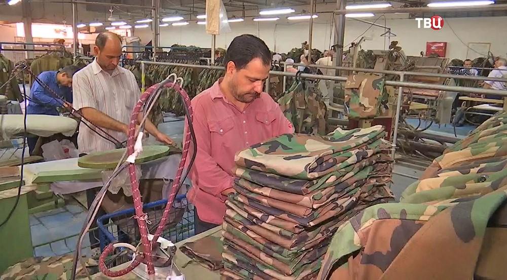 Швейная фабрика в Сирии