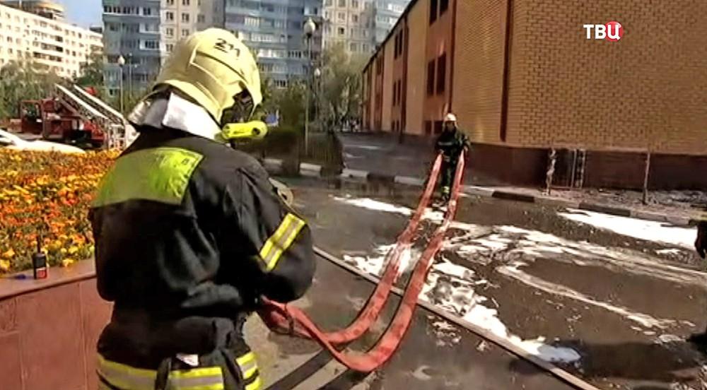 Пожар в Реутове