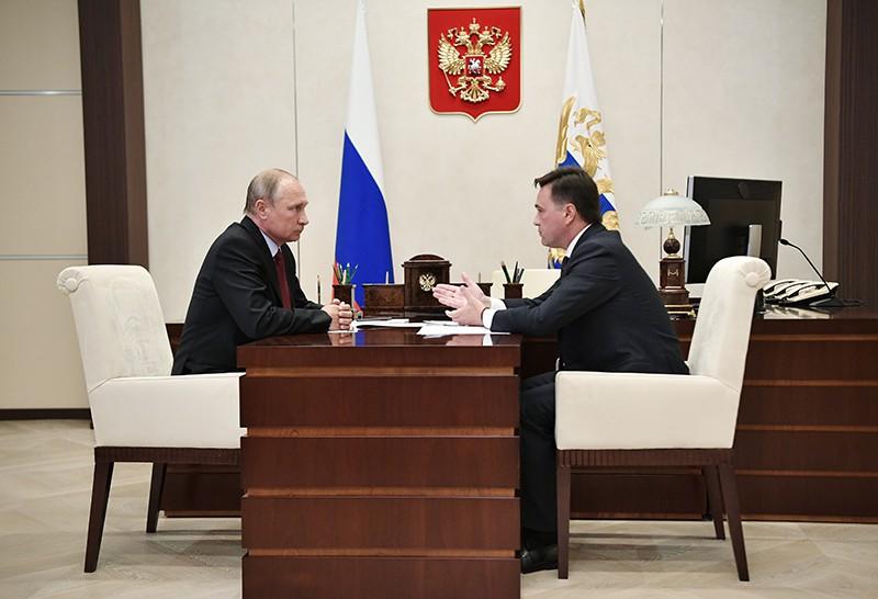Владимир Путин и губернатор Московской области Андрей Воробьев