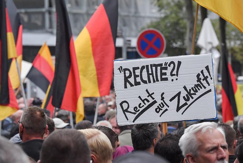 Митинг против мигрантов в Хемнице, Германия