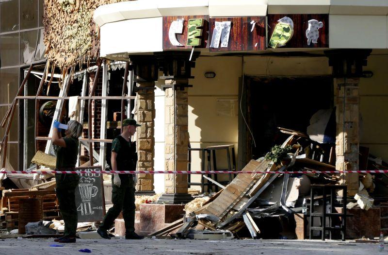 """Кафе """"Сепар"""" в Донецке после теракта"""