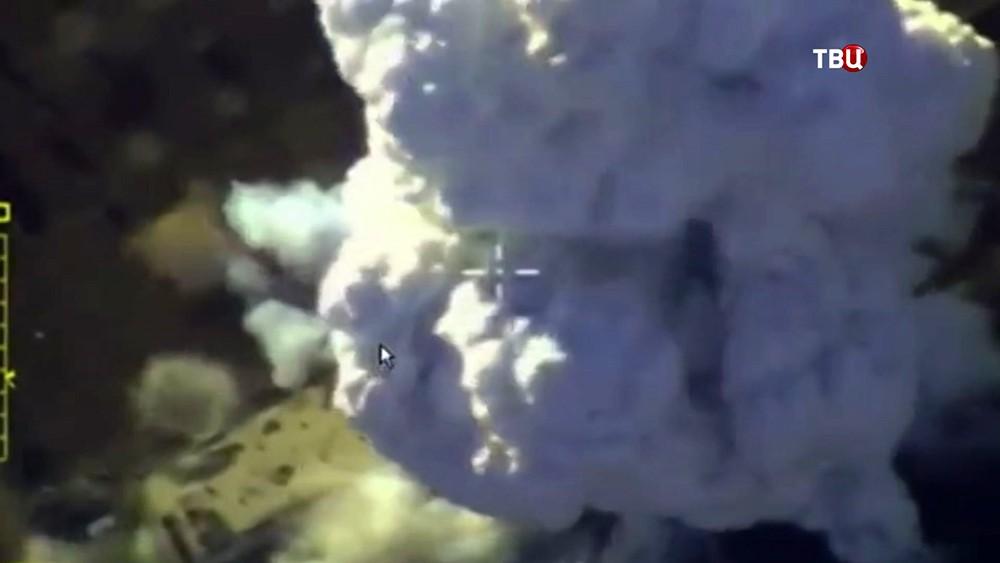 Авиаудар ВКС России по позициям ИГИЛ в Сирииу