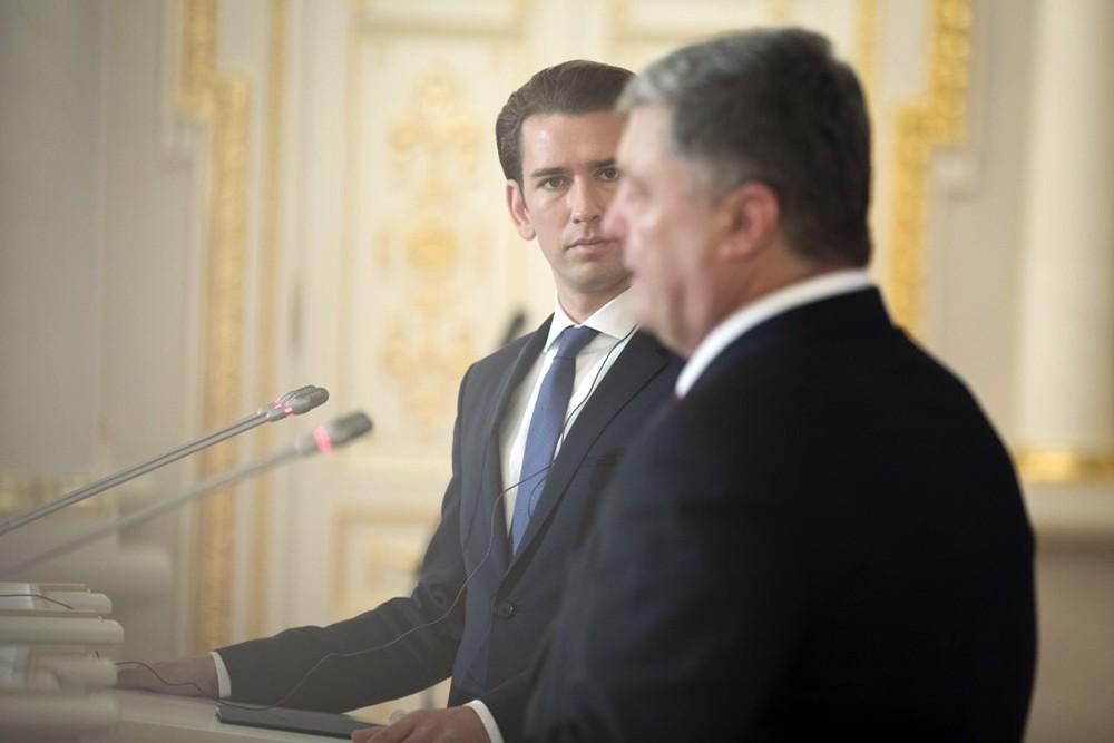 Себастьян Курц и Пётр Порошенко