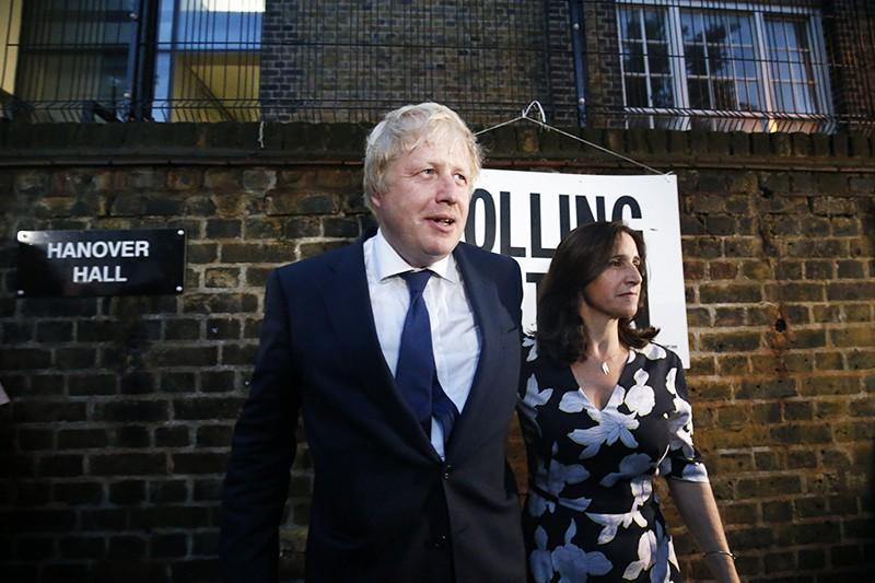 Борис Джонсон и его супруга