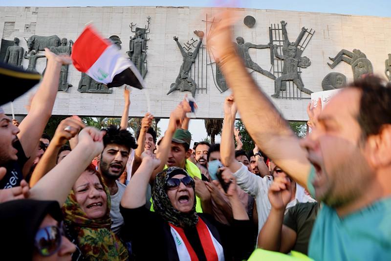 Акция протеста в Ираке