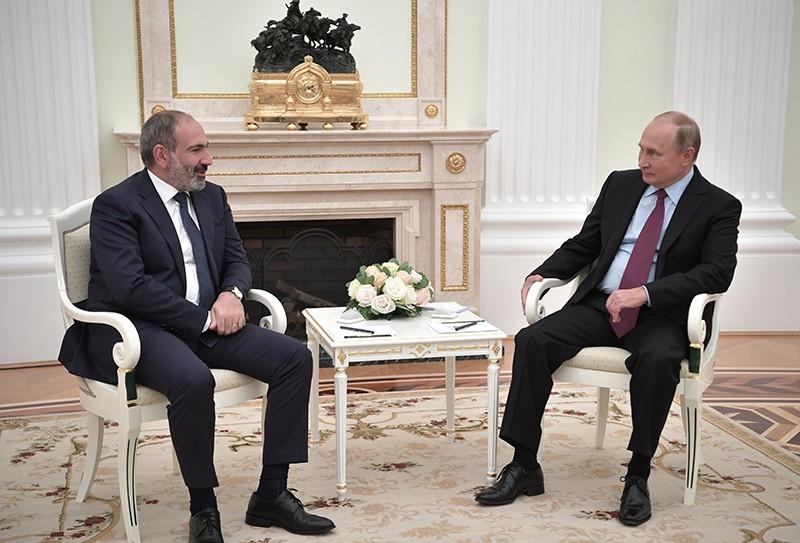 Президент РФ Владимир Путин и премьер-министр Армении Никол Пашинян