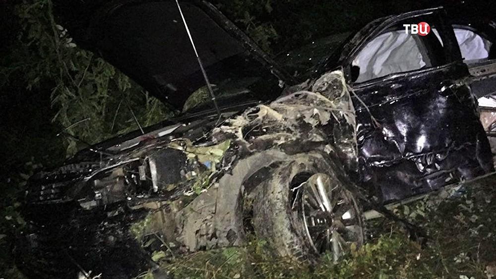 Последствия ДТП, где погиб премьер-министр Абхазии