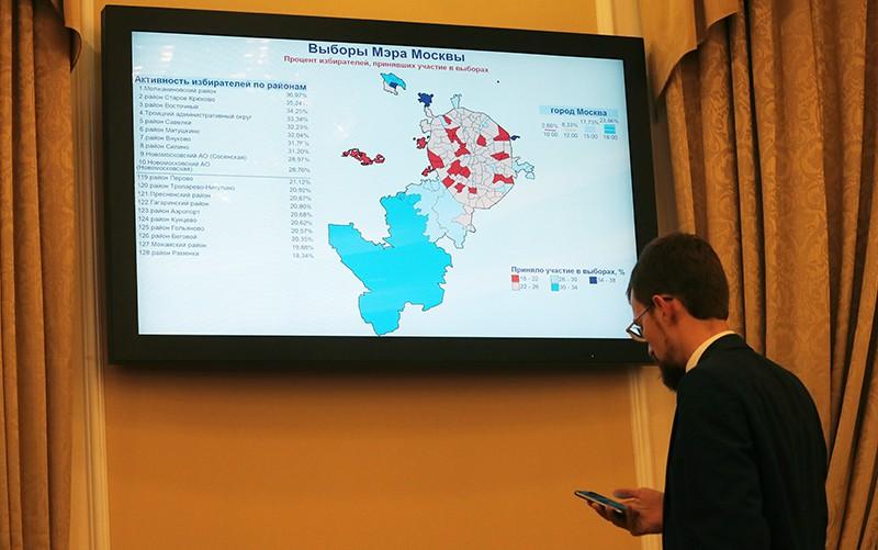 Работа информационного центра в Мосгоризбиркоме