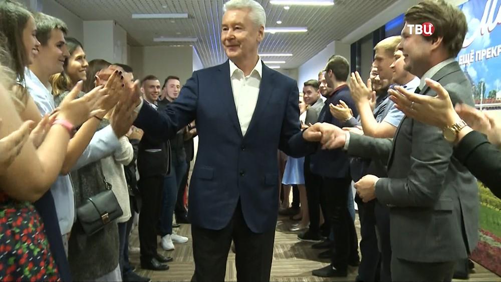 Кандидат в мэры Москвы Сергей Собянин