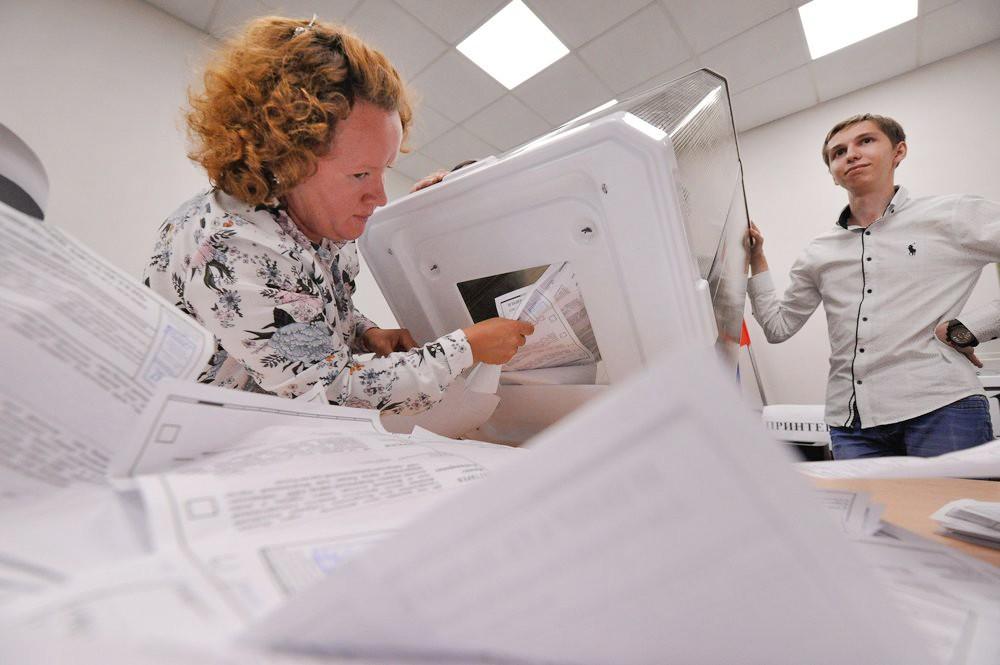Подсчет голосов избирателей на выборах