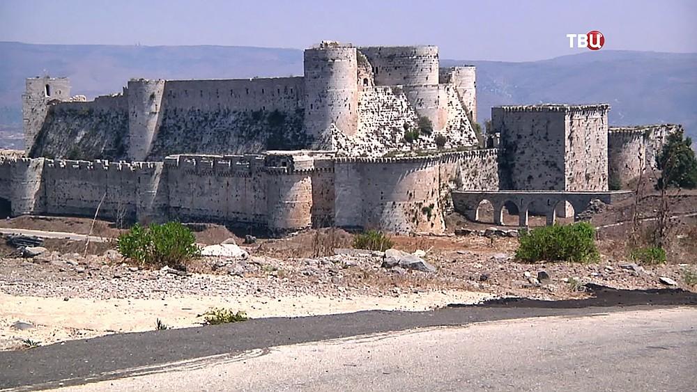 Старинный замок в Сирии