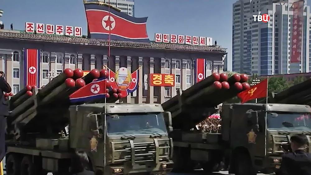 Военный парад в КНДР