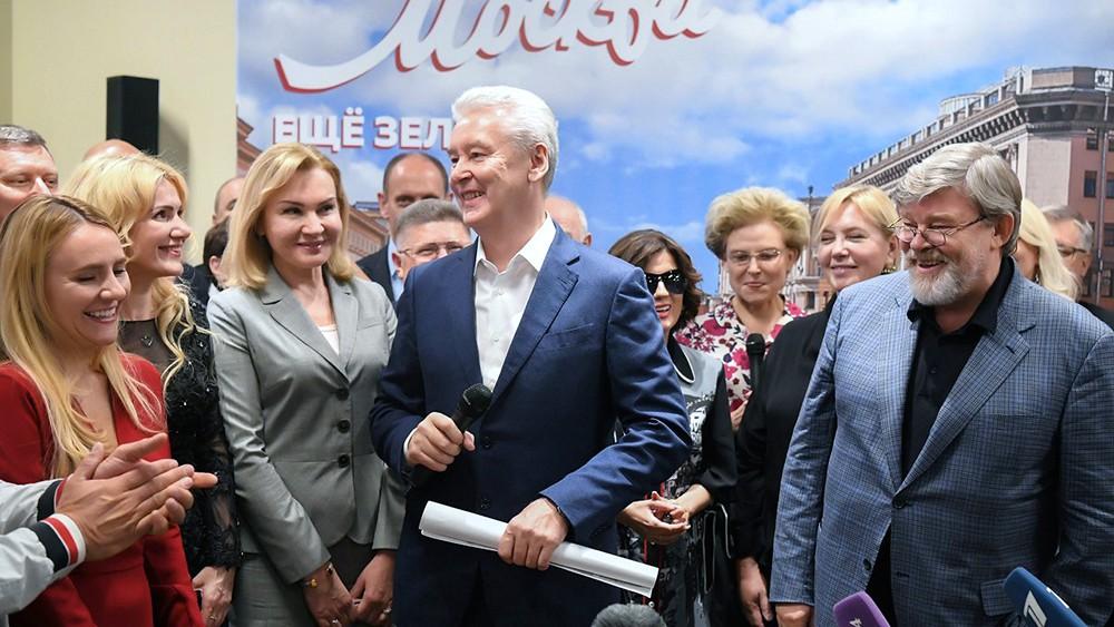 Сергей Собянин в предвыборном штабе