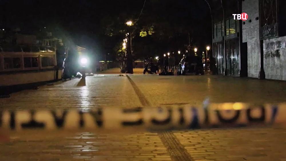 Полицейское оцепление во Франции