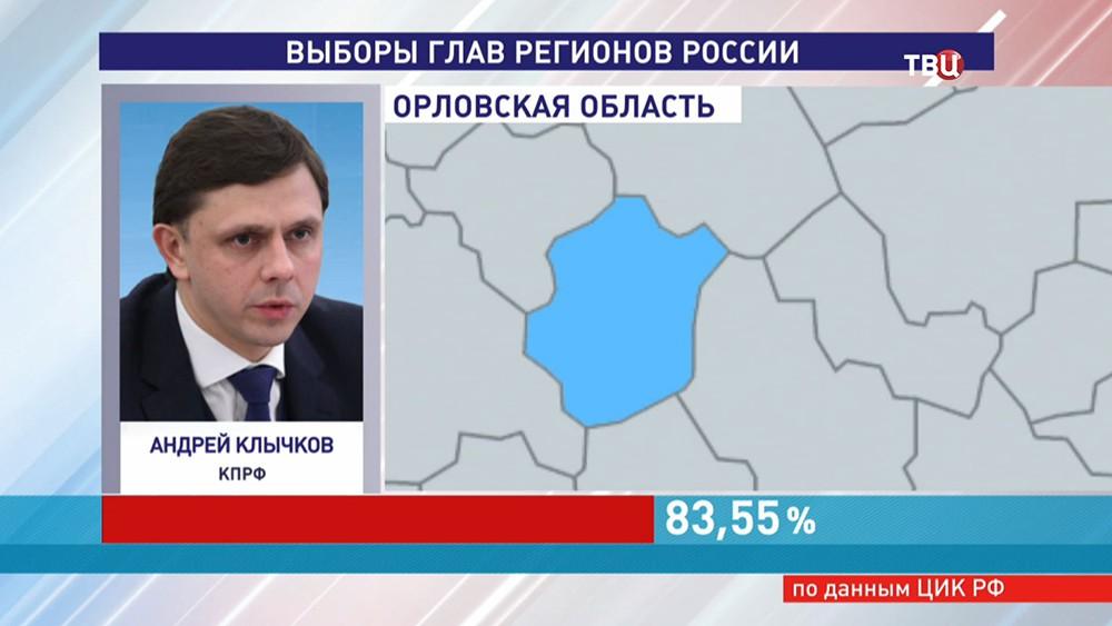 Глава Орловской области Андрей Клычков