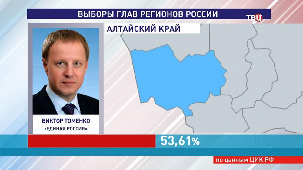 Глава Алтайского края Виктор Томенко
