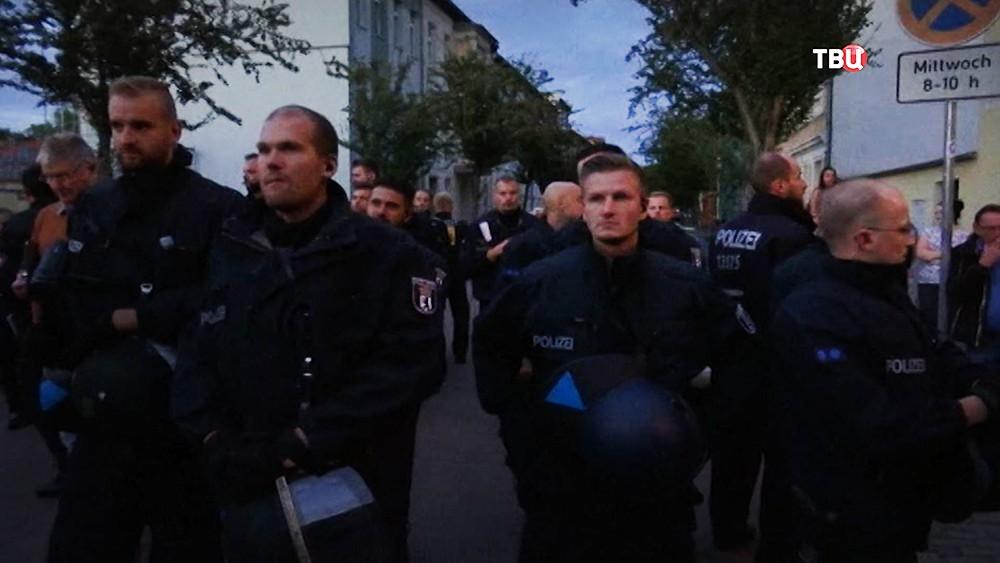 Полиция Германии следит за порядком на митинге