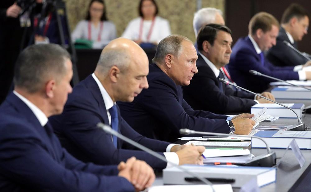 Владимир Путин на Восточном экономическом форуме
