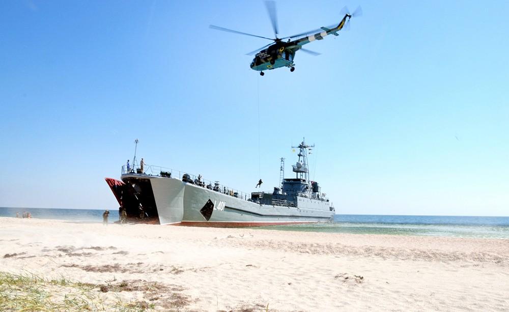 Десантный корабль армии Украины
