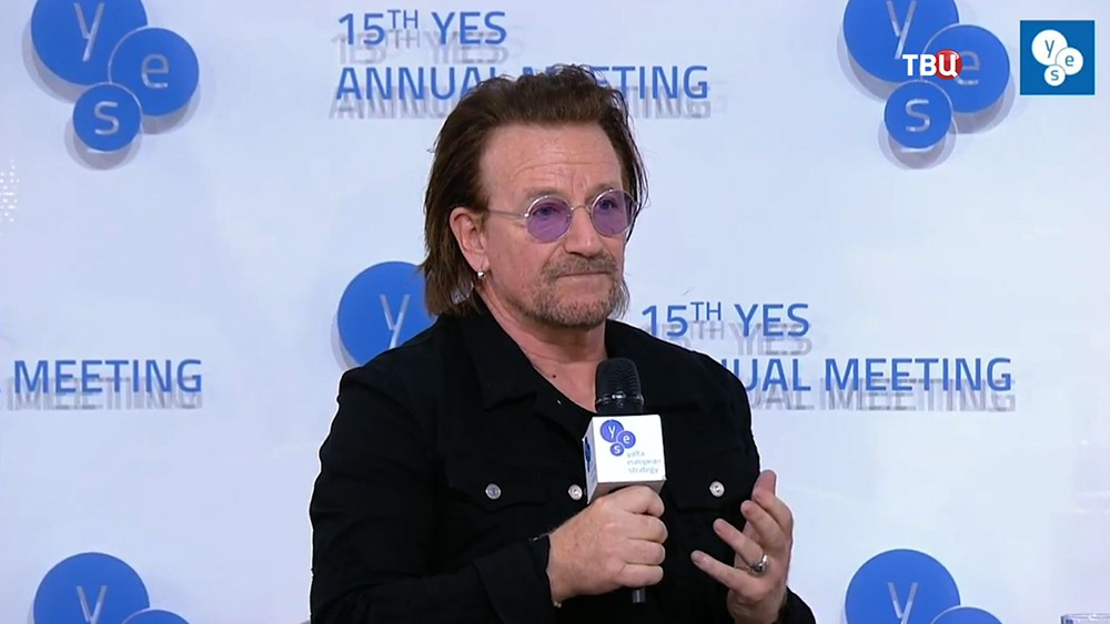 """Лидер U2 Боно на """"Ялтинской европейской стратегии"""""""