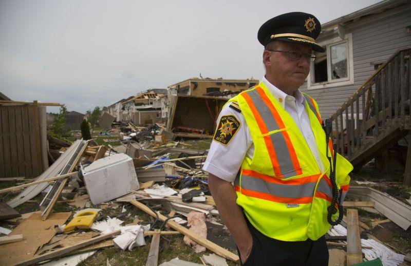 Последствия торнадо в Канаде. Архивное фото