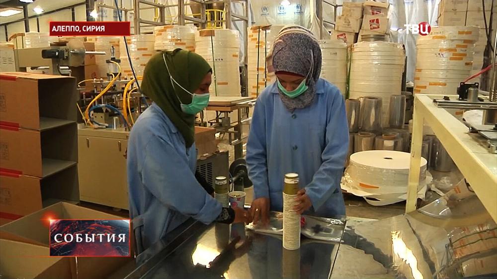 Фабрика по производству пластиковой посуды в Алеппо