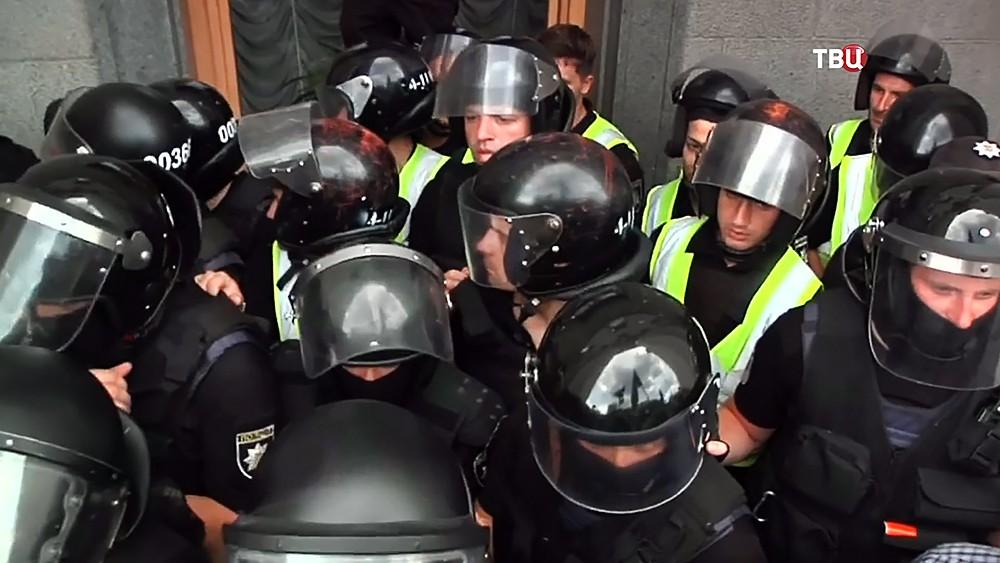 Полиция Украины возле Верховной Рады Украины