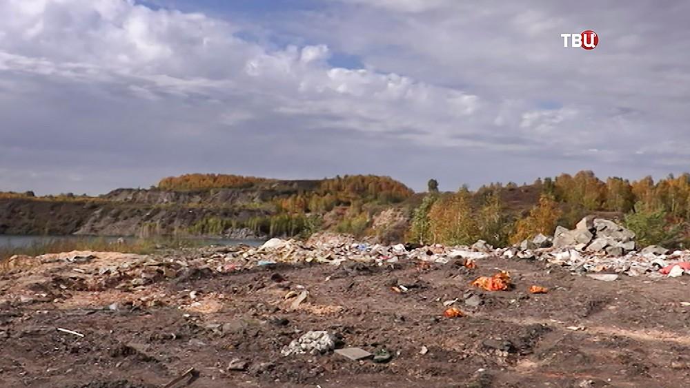 Мусорная свалка в Челябинске