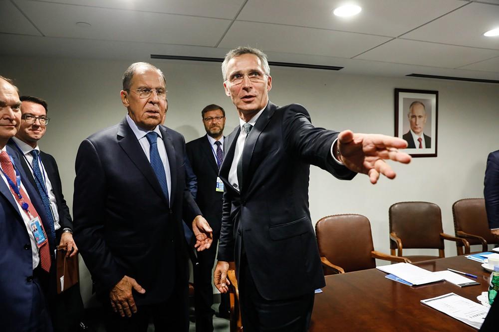 Сергей Лавров и Йенс Столтенберг